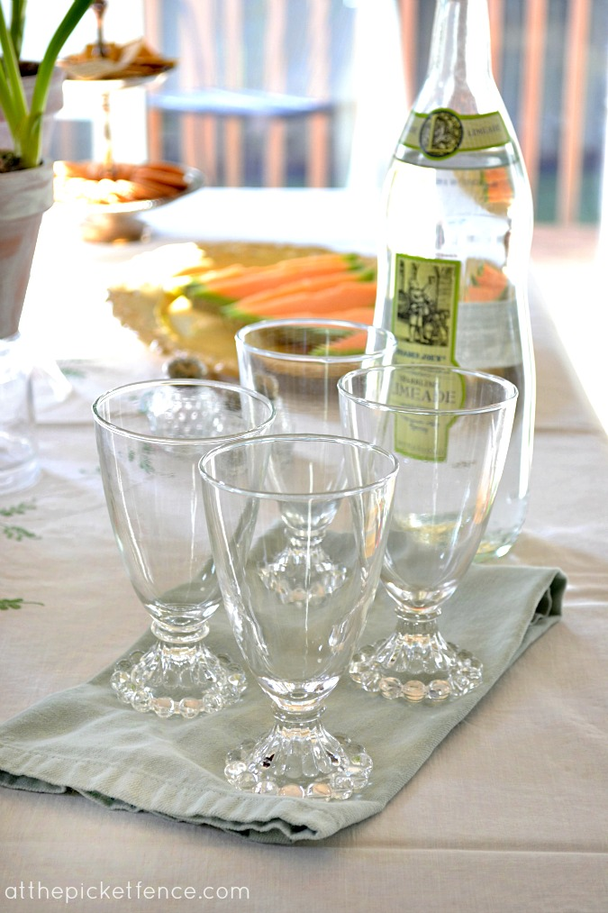 vintage bubble glass At the Picket Fence