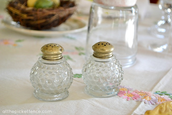 vintage salt and pepper shakers At the Picket Fence
