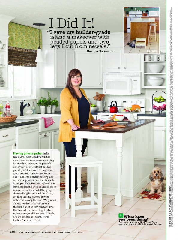 Heather of At The Picket Fence Better Homes and Gardens Feature