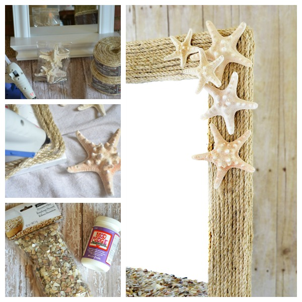 Coastal Rope Mirror Makeover Tutorial from www.atthepicketfence.com