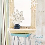 DIY Coastal Rope Mirror Makeover from www.atthepicketfence.com
