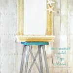 DIY Coastal Rope Mirror from www.atthepicketfence.com