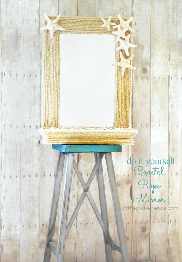 DIY Coastal Rope Mirror Makeover Challenge