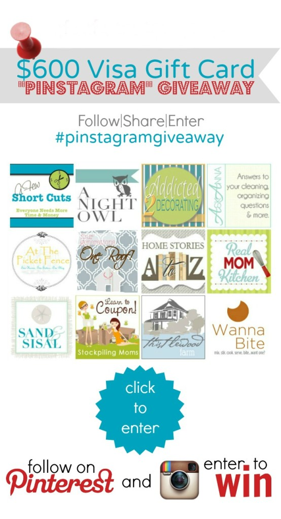 Enter the $600 Visa Pinstagram Giveaway