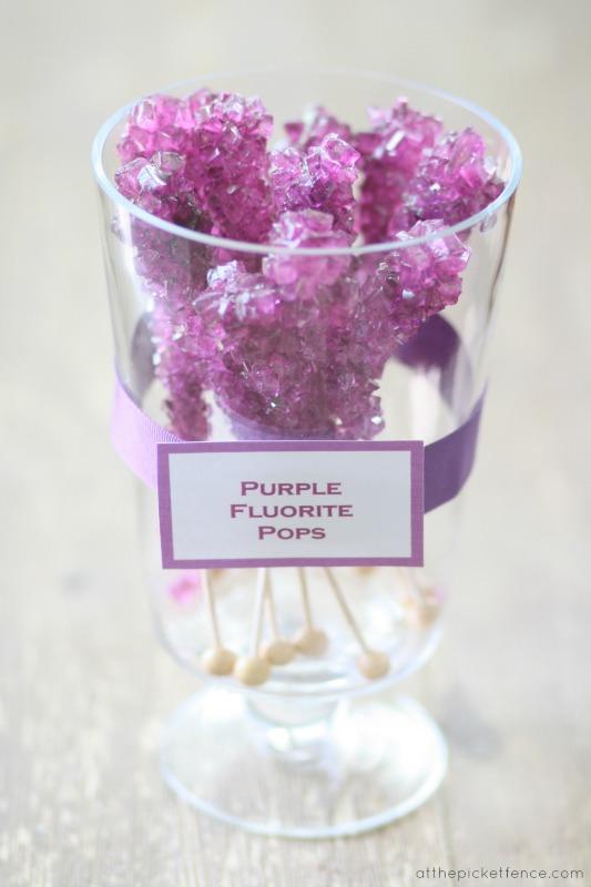 Purple Fluorite Pops www.atthepicketfence.com