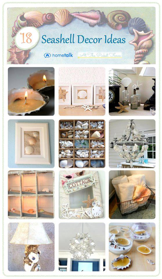 Seashell Projects Roundup from Hometalk and At The Picket Fence