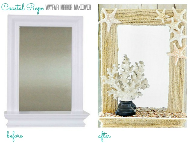 coastal rope wayfair mirror makeover www.atthepicketfence.com
