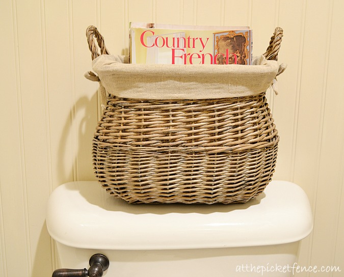 french country basket www.atthepicketfence.com