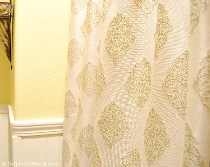 French Country Curtains Best Natural Quality Linen In Beige Color Blue Botanical Pattern