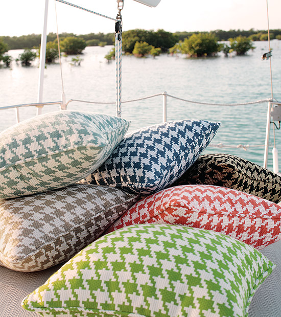 Bridgeport Outdoor Fabric Collection photo via Thibaut Courtyard