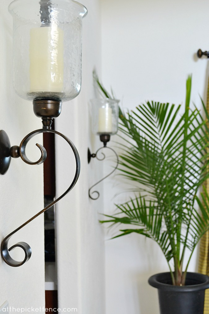 large iron sconces www.atthepicketfence.com
