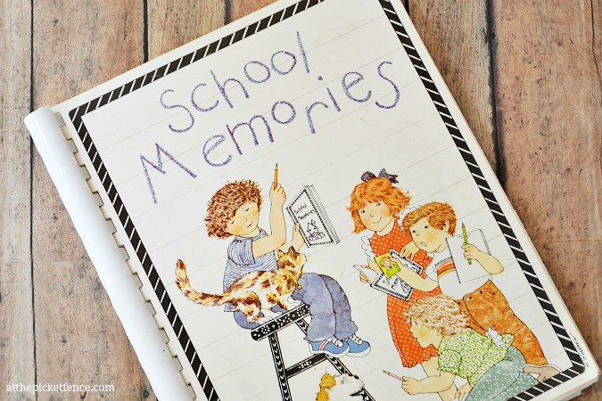school memories book at the picket fence
