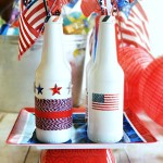 Patriotic Recycled Bottle Centerpiece1 from www.atthepicketfence.com
