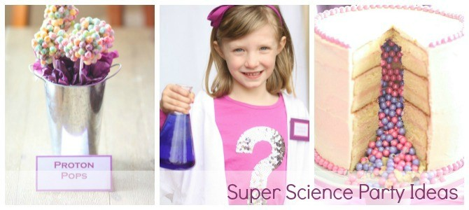 Surprise Science Party slide