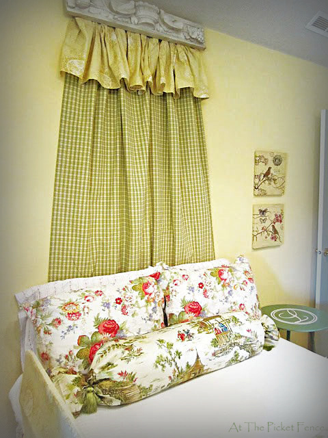 diy no sew bed cornice