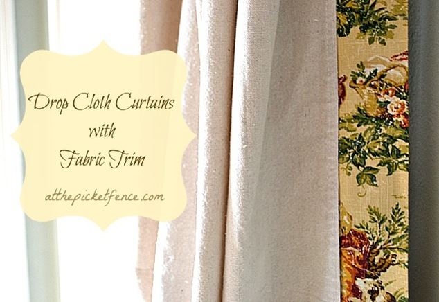 drop cloth no sew curtains