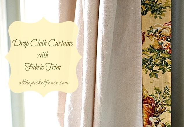 drop cloth no sew curtains