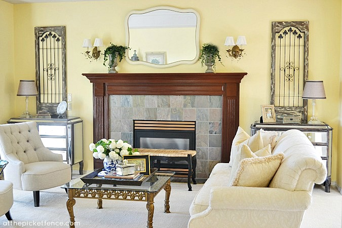 Formal French Country Living Room Makeover Atthepicketfence