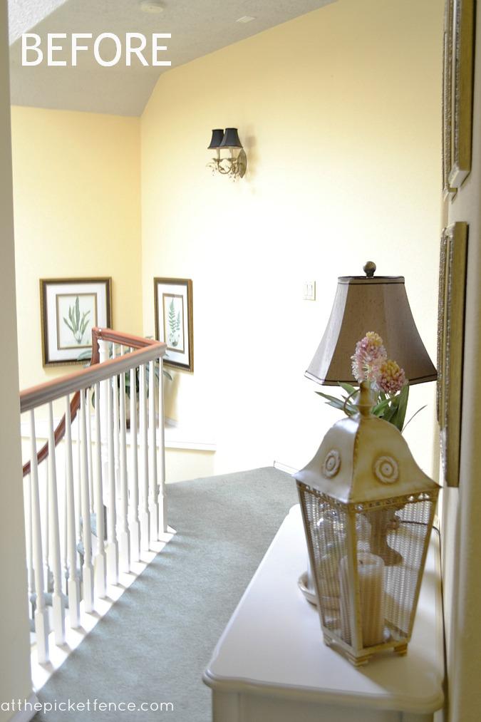 hardwood floor hallway makeover at the picket fence