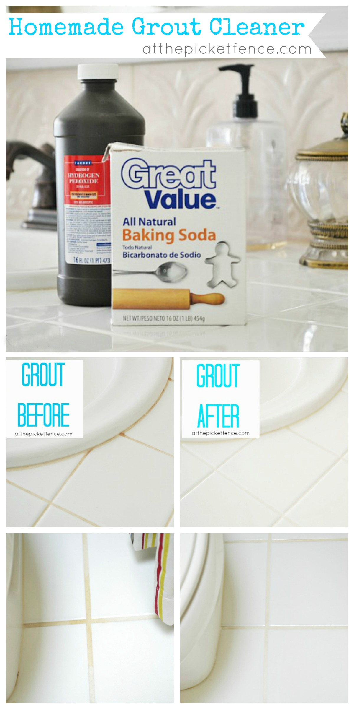 homemade grout cleaner image via