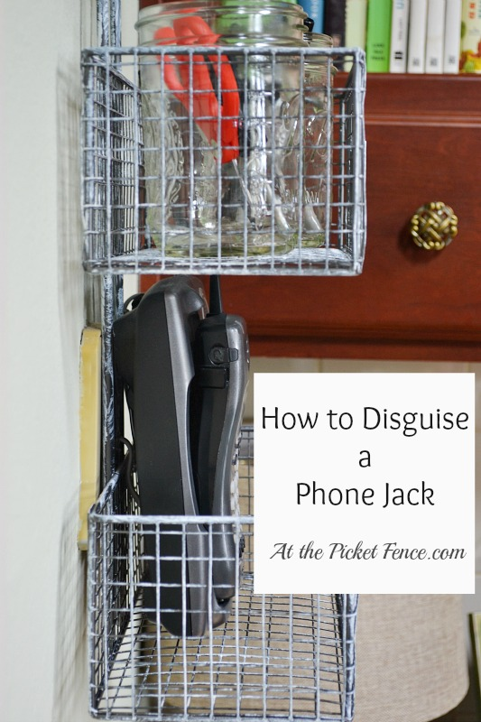 So Long Jack! How to Disguise Ugly Wall Fixtures