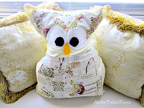 no sew owl pillows