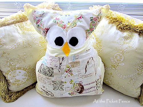 no sew owl pillows