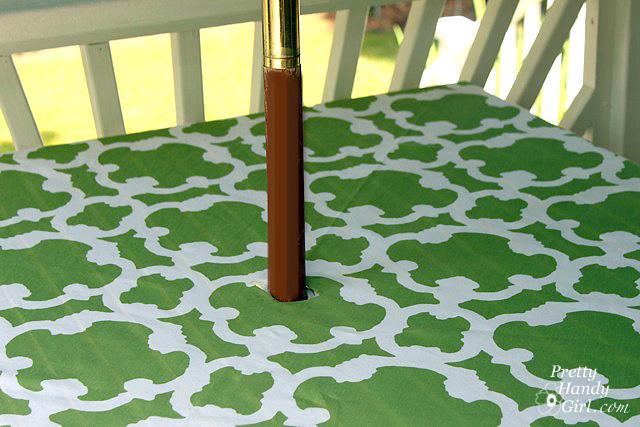 no sew patio tablecloth with umbrella hole