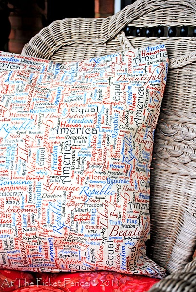 no sew patriotic pillows