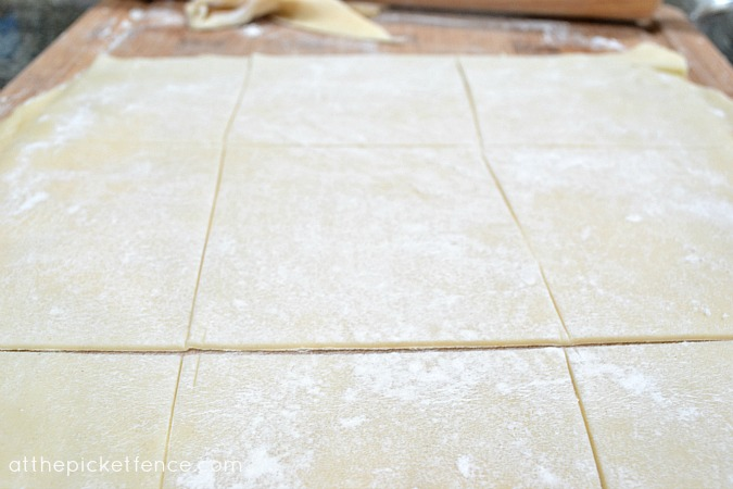 sliced pie crust dough atthepicketfence