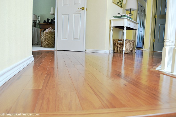 Hardwood Floor Hallway Makeover At The Picket Fence
