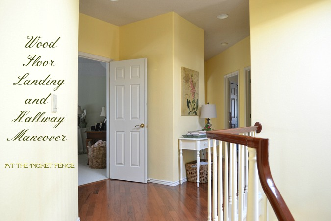 Wood_floor_landing_and_hallway_makeover Www.atthepicketfence.com