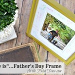 Daddy is Father's day frame gift www.atthepicketfence.com