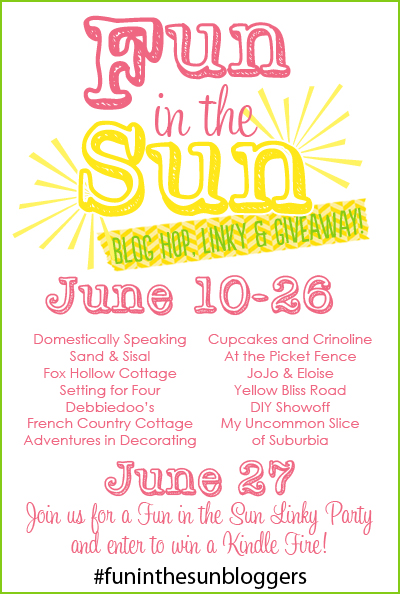 Kindle Fire Giveaway & Fun in the Sun Linky Party!