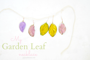 Garden Leaf Mod Podge Necklace