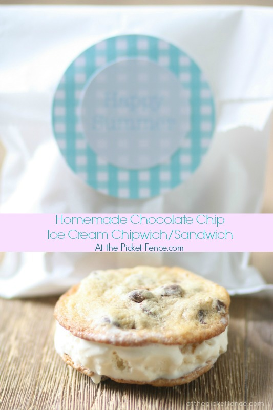 homemade-ice-cream-sandwich-chipwich www.atthepicketfence.com