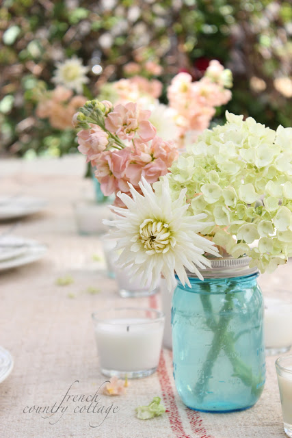 mason jar table setting