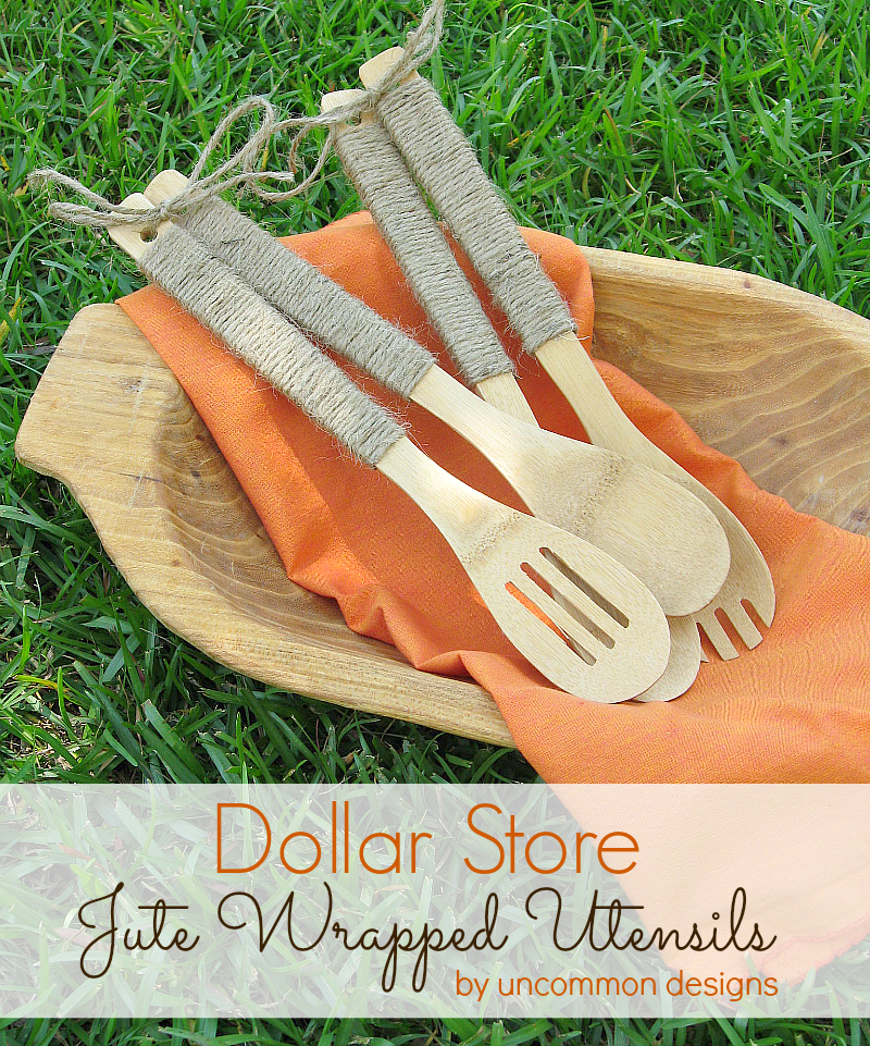 Dollar Store Crafts Jute Wrapped Utensils