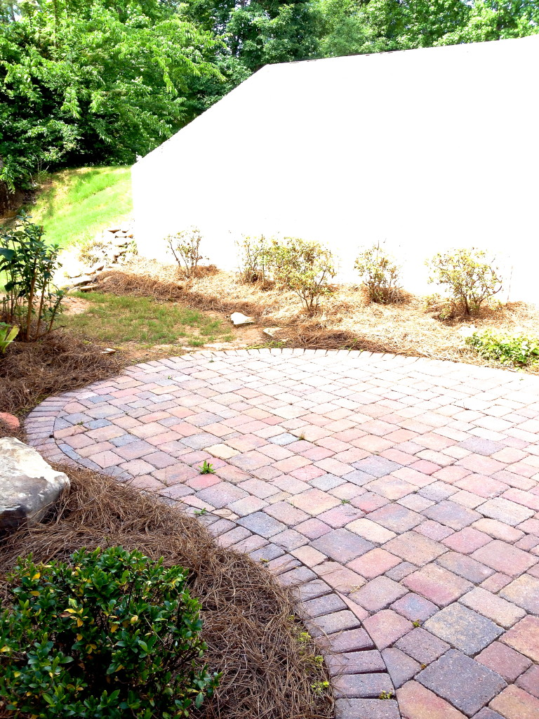 new house brick patio
