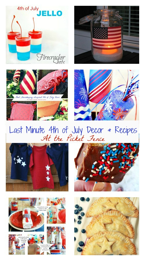 Last Minute 4th of July Decor and Recipes atthepicketfence.com
