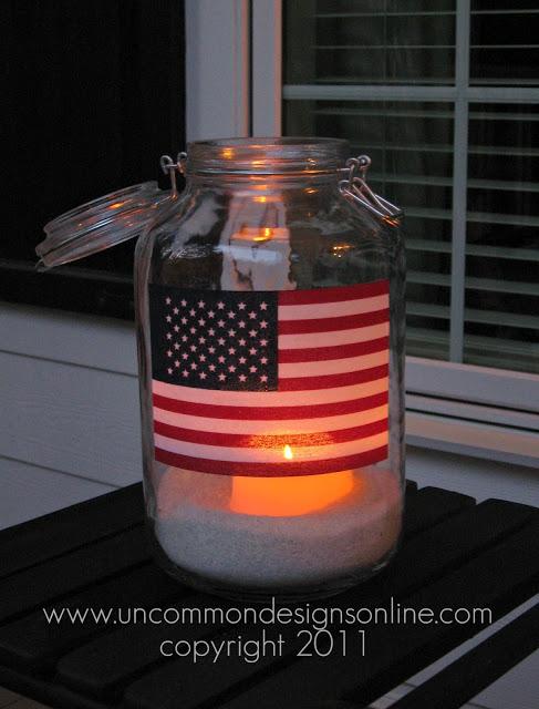 Uncommon 4th of July Porch Flag Lantern 2011