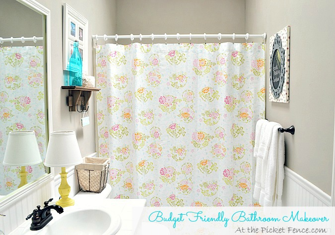 budget friendly bathroom makeover atthepicketfence.com