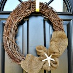 easy-burlap-summer-wreath from atthepicketfence.com