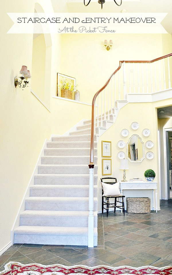 Staircase and Entry Makeover Reveal!