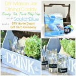 DIY Mason Jar Dining Caddy with Scotch Blue