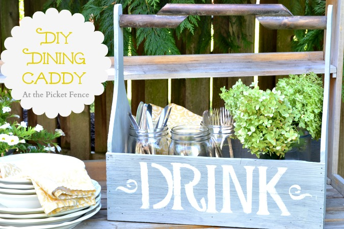 DIY_dining_caddy_with_mason_jars atthepicketfence.com
