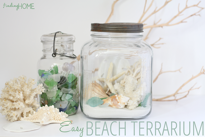 How To Make A Beach Terrarium At The Picket Fence