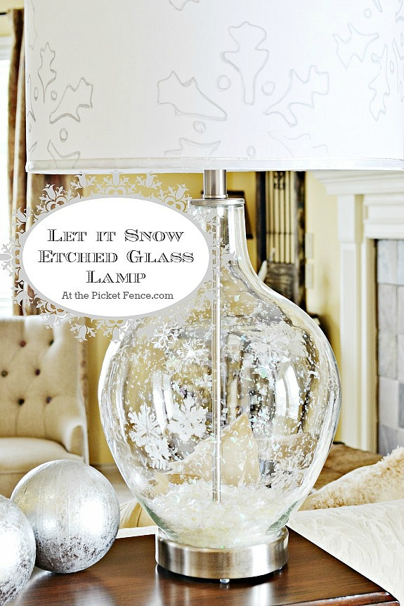 Etched Glass Snowflake Lamp! Let it Snow!
