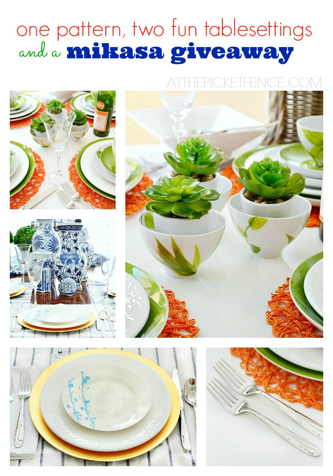Table Setting Ideas and a Mikasa Giveaway!