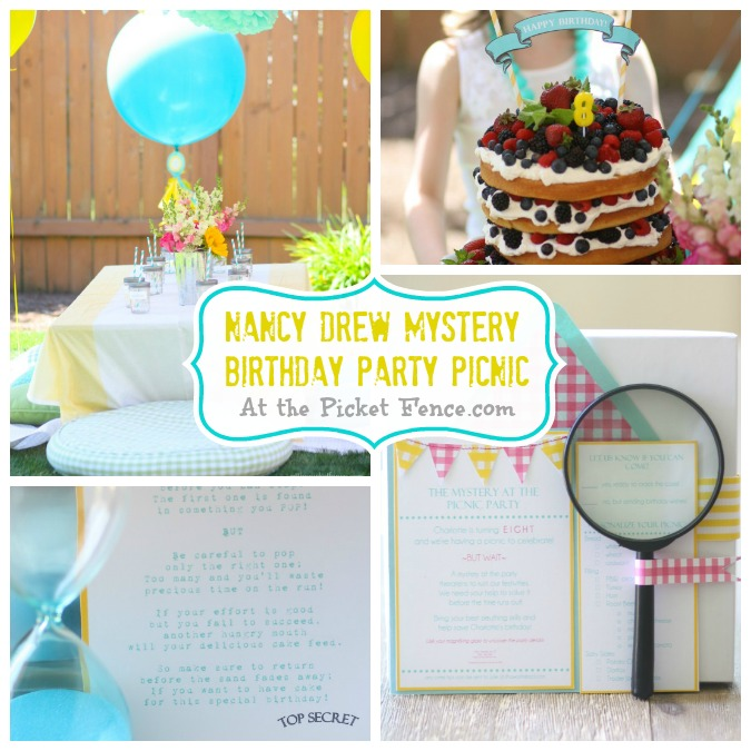Host a Nancy Drew Mystery Birthday Party! Full of ideas and details!